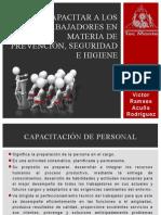 Capacitar a Los Trabajadores en Materia de Prevención