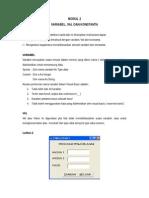 Modul 2 Variabel Value & Konstanta
