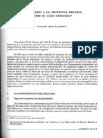 Atria, Fernando - Comentario a La Sentencia Recaida Sobre El Caso Cereceda