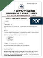 Computer Architecture & Organisation-1