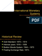 Int Monetary Systems