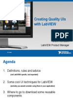 Creating Quality Uis With Labview