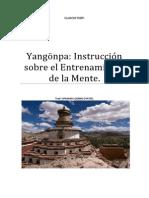 Yangönpa Instrucción Sobre El Entrenamiento de La Mente.