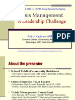 Crisis Management a Leadership Challenge Kaufman08
