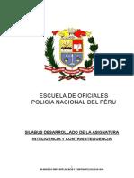 Inteligencia y Contrainteligencia EO PNP 3er Año