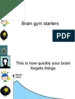 brain gym starters