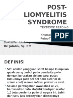 Post Poliomyelitis Syndrome