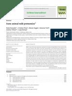 Farm Animal Milk Proteomics