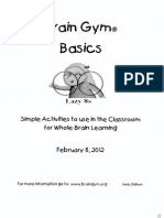 brain gym basics to use in classroom