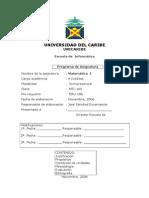 1837508matematica i - Informatica-programa