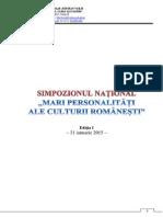 Simpozion Mari Personalitati Ale Culturii Romanesti 01.2015 Bun
