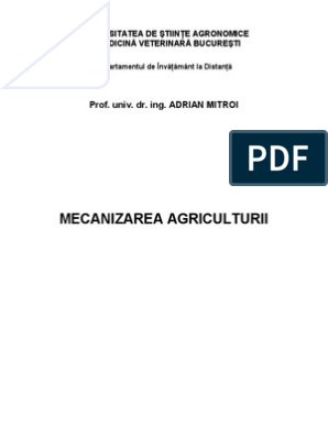 mecanizarea agriculturii inelat