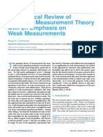 Pedagogical Review of Quantum Measurement Theory With an Emphasis on Weak Measurements