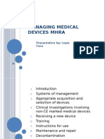 Managing Medical Devices MHRA