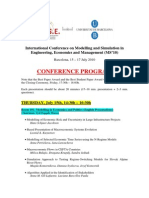 International Conference on Modelling and Simulation in Engineering, Economics and Management (MS'10), Barcelona 2010