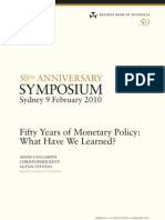 Fifty Years of Monetary Policy What Have We Learned