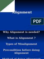 alingment