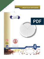 HVAC Beta Linear Slot Diffusers Catalog