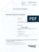 Maintenance Worksafe Review Procedure