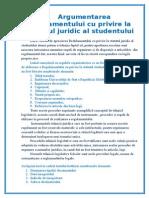 Argumentarea Regulamentului Cu Privire La Statutul Studentului La Grupa I
