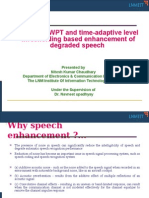 Perceptual WPT and time-adaptive level thresholding based enhancement of degraded speech