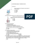 Soal UAS 2 IPA Fisika 2012-2013
