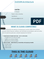 Cloudsim Architecture