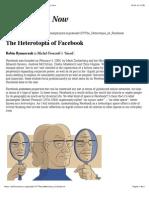 The Heterotopia of Facebook | Issue 107 | Philosophy Now.pdf