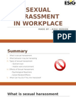 Sexual Harassment in the Workplace !
