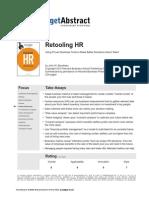 Retooling HR John-Boudreau 2012 Summary