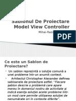Sablonul de Proiectare Model View Controller