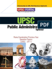 Download UPSC IAS Mains LAST 10 Year Papers Public Administration Optional