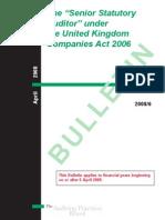 Bulletin 2008 6 the Senior Statutory Auditor Under