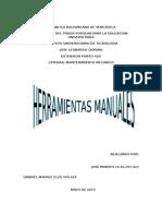 Herramientas Manuales de Un Taller Mecanico