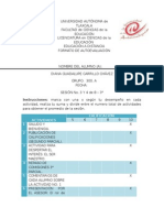 Formato de Autoevaluacion Sesion 3 y 4 de 8 3° DIANA CARRILLO