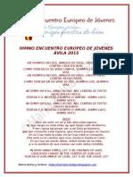 HIMNO ENCUENTRO EUROPEO DE JÓVENES ÁVILA 2015
