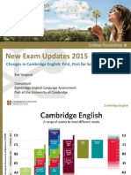 Changes in FCE and CAE 2015 New