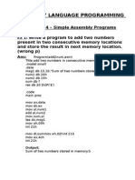 Mcsl 17 Assembly Lab Manual