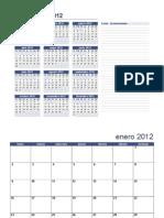 Calendario anual a actualizar