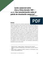 La relación comercial entre Argentina y China durante 1991 – 2010. Una caracterización sobre el patrón de vinculación comercial
