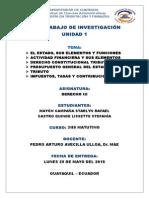 Unidad 1. Derecho Tributario Ecuador