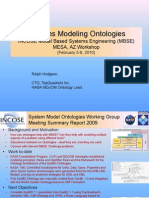 INCOSE MBSE Putting Ontologies to Work, MESA, AZ Feb'2010