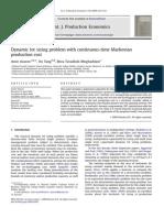 AzaronDynamic lotsizingproblemwithcontinuous-timeMarkovian productioncost Et Al