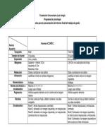 Estructura presentación informe final