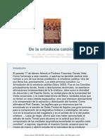 La Ortodoxia Catolica