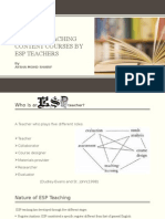 Issues in Teaching Content Courses by Esp Teachers