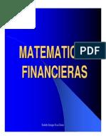 Matematicas Financieras. Recorrido Rapido