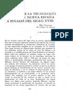 Aspectos de La Tecnologia Minera en Nueva España