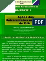 Ações Das Universidades No Campo Da EJA 2011 Atual