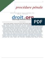 Procedure Penale
